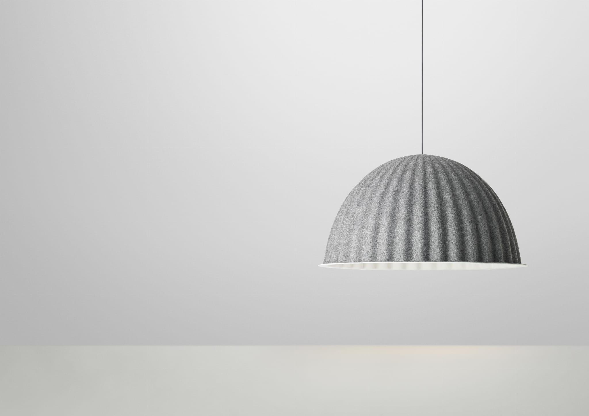 Modne ubrania MUUTO lampa wisząca UNDER THE BELL by ISKOS-BERLIN ⌀82 szara QX81