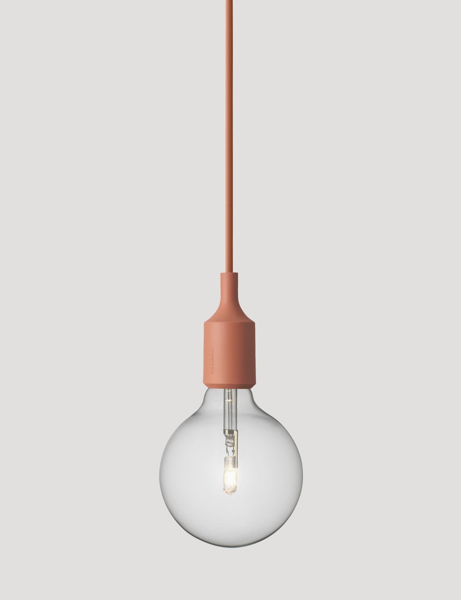 Bra MUUTO lampa wisząca E27 SOCKET LAMP terakota AnOther DESIGN DT-64