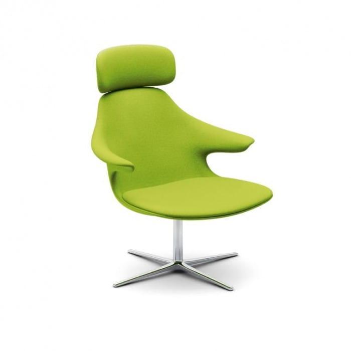 Genialny INFINITI wypoczynkowy fotel obrotowy LOOP LOUNGE z zagłówkiem BA68