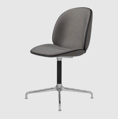 GUBI krzesło obrotowe BEETLE krzyżowa podstawa tapicerowane