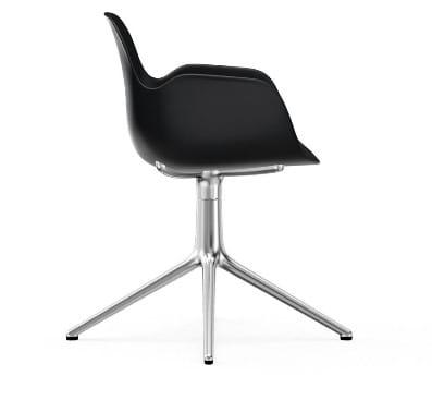 NORMANN COPENHAGEN krzesło obrotowe z podłokietnikami FORM SWIVEL 4L aluminiumczarne