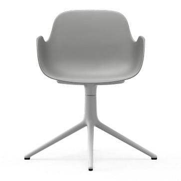 NORMANN COPENHAGEN krzesło obrotowe z podłokietnikami FORM SWIVEL 4L białeszare
