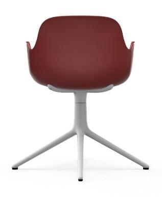 NORMANN COPENHAGEN krzesło obrotowe z podłokietnikami FORM SWIVEL 4L białeczerwone
