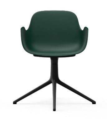 NORMANN COPENHAGEN krzesło obrotowe z podłokietnikami FORM SWIVEL 4L czarnezielone