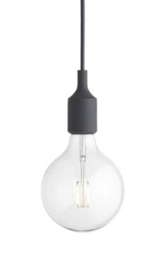 MUUTO lampa wisząca E27 SOCKET LAMP ciemnoszara