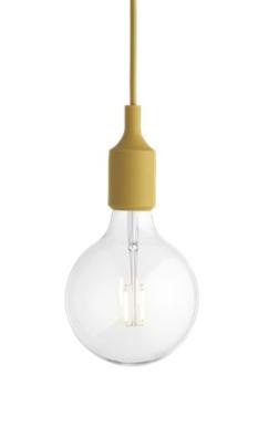 MUUTO lampa wisząca E27 SOCKET LAMP musztardowa