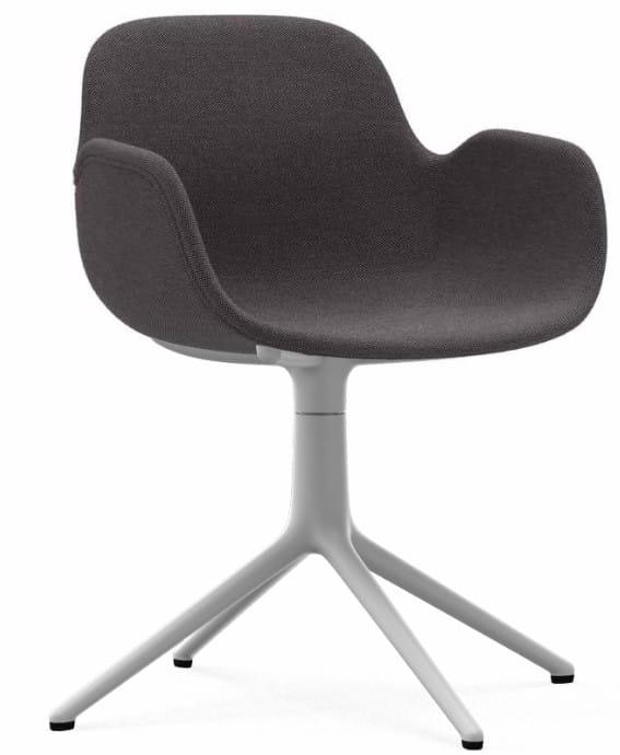 NORMANN COPENHAGEN krzesło obrotowe z podłokietnikami tapicerowane FORM SWIVEL 4L białe